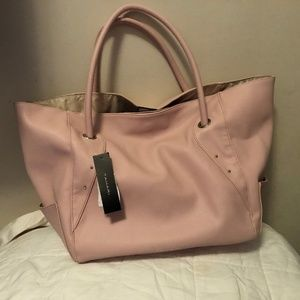 Tahari Pink Large Leather Tote Bags NWT